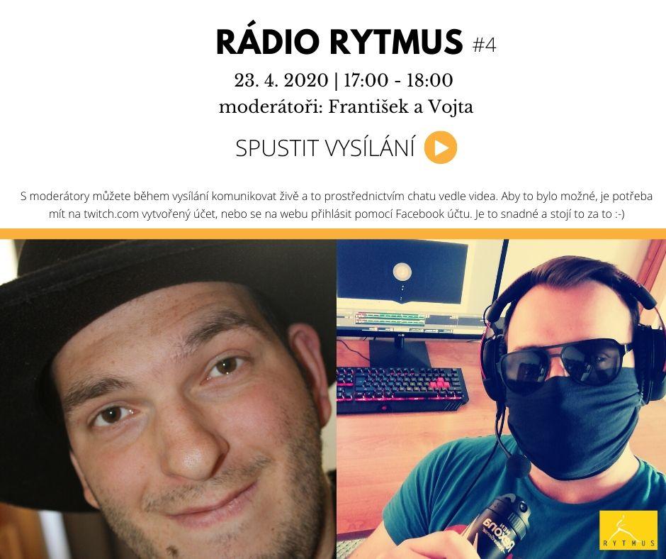 Čtvrté vysílání Rádia Rytmus